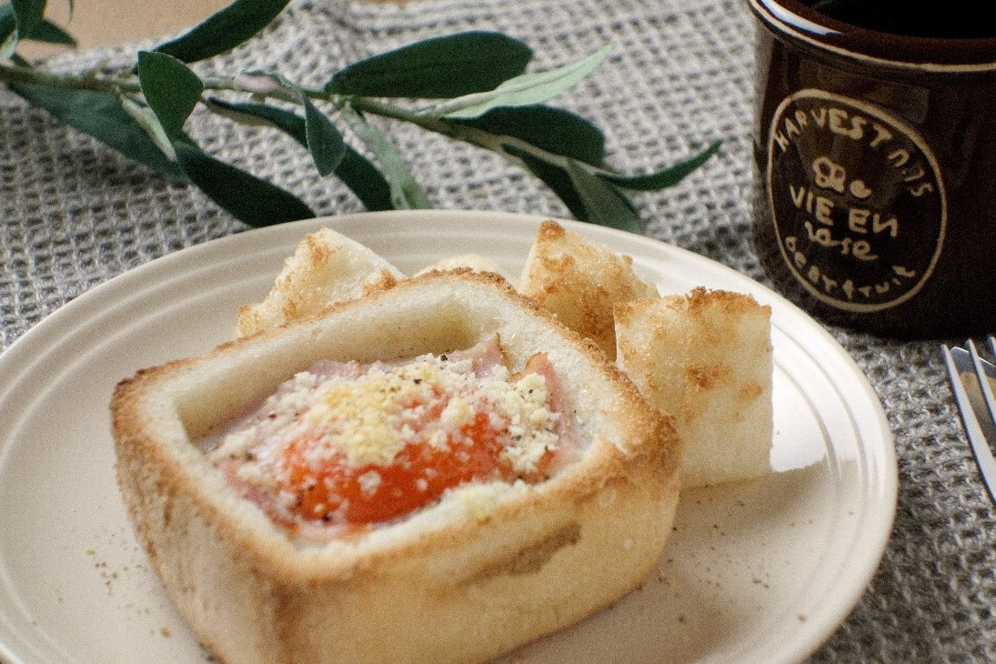 米粉パンで作る『カルボナーラ風ミニポットパン』
