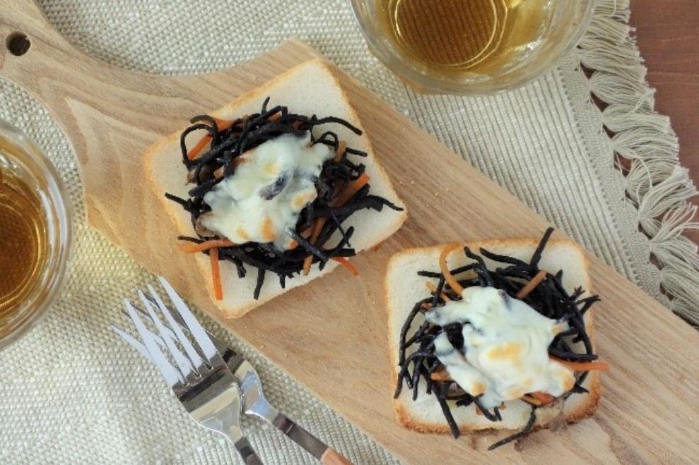 和惣菜で時短ごはん『ひじきとチーズのトースト』
