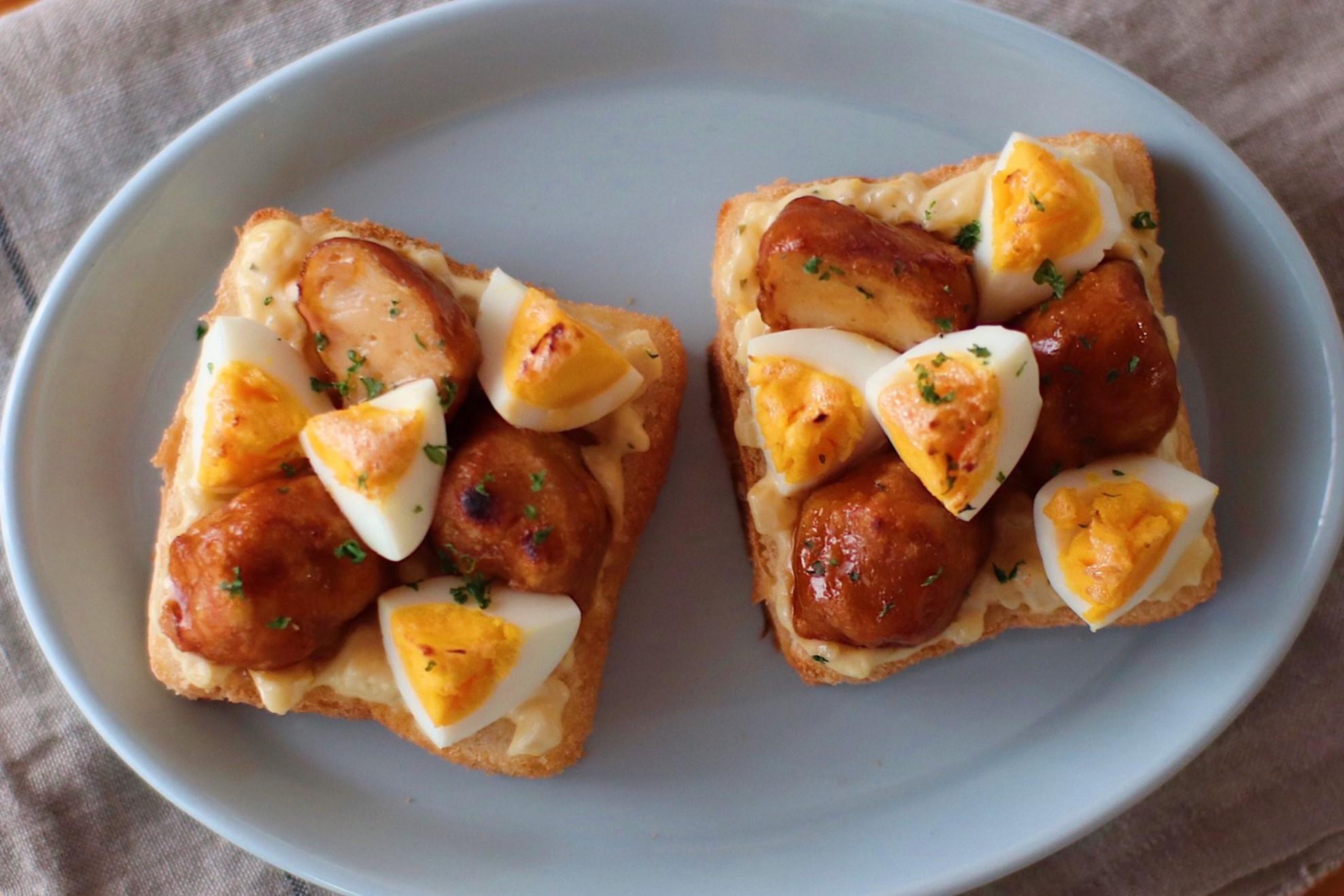 冷凍唐揚げでボリューム満点『チキン南蛮風トースト』